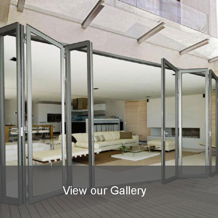 folding doors, aluminium folding doors, glass doors, tableview